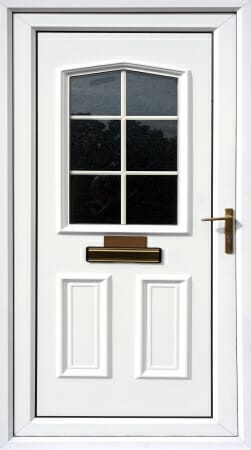 Upvc door with mailbox